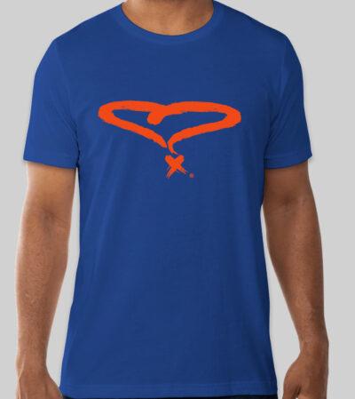 Unisex Royal Blue/Orange Wonderlove Tee (LIMITED EDITION)