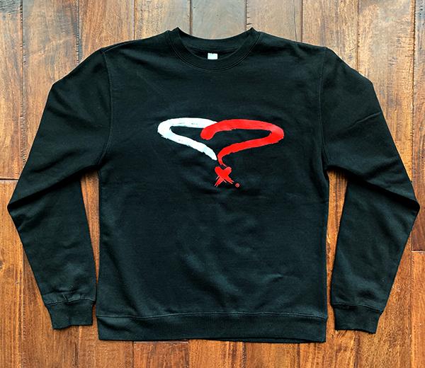 Unisex Black Crew Neck Sweatshirt